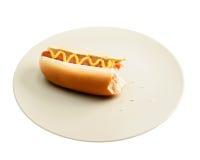 σκυλί δαγκωμάτων καυτό Στοκ Φωτογραφίες