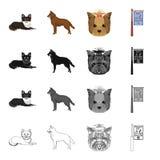Σκυλί, εσωτερικός, ζωικός, και άλλο εικονίδιο Ιστού στο ύφος κινούμενων σχεδίων Υγιεινή, πρόληψη, εικονίδια κυνηγόσκυλων στην καθ απεικόνιση αποθεμάτων