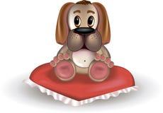 Σκυλί κινούμενων σχεδίων στο μαξιλάρι Στοκ εικόνα με δικαίωμα ελεύθερης χρήσης