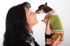σκυλί λίγη γυναίκα Στοκ εικόνες με δικαίωμα ελεύθερης χρήσης