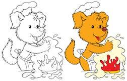 σκυλί μαγείρων Στοκ Εικόνες