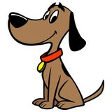 Σκυλί με το περιλαίμιο απεικόνιση αποθεμάτων