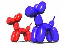 σκυλί μπαλονιών ελεύθερη απεικόνιση δικαιώματος