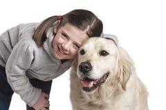 σκυλί παιδιών αυτή στοκ φωτογραφία