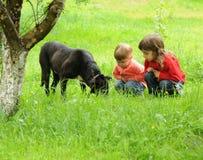 σκυλί παιδιών Στοκ φωτογραφία με δικαίωμα ελεύθερης χρήσης