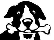 σκυλί bw ελεύθερη απεικόνιση δικαιώματος