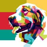 Σκυλί Colorfully Στοκ εικόνα με δικαίωμα ελεύθερης χρήσης