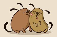 Σκυλιά ερωτευμένα διανυσματική απεικόνιση