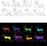 σκυλιά sketch2 Στοκ εικόνα με δικαίωμα ελεύθερης χρήσης