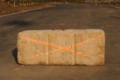 σκυρόδεμα οδοφραγμάτων Στοκ φωτογραφία με δικαίωμα ελεύθερης χρήσης