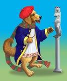 Σκυλάκι-καλλιτέχνης απεικόνιση αποθεμάτων