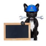 Σκυλί γαλλικών κλειδιών Handyman Στοκ φωτογραφία με δικαίωμα ελεύθερης χρήσης