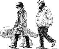 σκυλί ζευγών τους Στοκ Φωτογραφίες