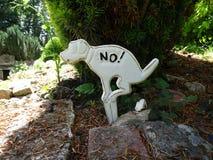 Σκυλί κανένα σημάδι poo Στοκ Φωτογραφία