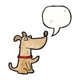 σκυλί κινούμενων σχεδίων με τη λεκτική φυσαλίδα Στοκ Φωτογραφία
