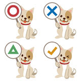 Σκυλί με μια επιτροπή των απαντήσεων Στοκ Εικόνα