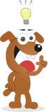 Σκυλί με την ιδέα Στοκ φωτογραφία με δικαίωμα ελεύθερης χρήσης