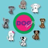 Σκυλί λογότυπων Στοκ Φωτογραφία