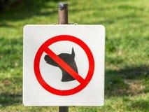 Σκυλί που επιτρέπεται κανένα στη χλόη Στοκ Φωτογραφία