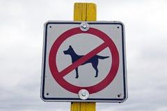 Σκυλί που επιτρέπεται κανένα Στοκ εικόνες με δικαίωμα ελεύθερης χρήσης