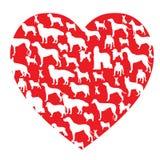 Σκυλί στην καρδιά Στοκ Εικόνα