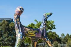 Σκυλί της Μελβούρνης τέχνης με δύο κεφάλια Στοκ Εικόνες