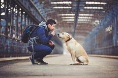 σκυλί το άτομό του Στοκ εικόνα με δικαίωμα ελεύθερης χρήσης