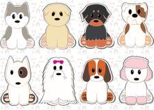 Σκυλιά καθορισμένα Στοκ Φωτογραφίες