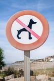 σκυλιά κανένα σημάδι Στοκ Εικόνες