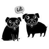 Σκυλιών διανυσματικό γαλλικό γαλλικό μπουλντόγκ μπουλντόγκ ζώων κατοικίδιων ζώων φυλής χαριτωμένο Στοκ φωτογραφίες με δικαίωμα ελεύθερης χρήσης