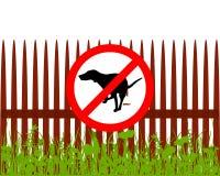 Σκυλιών σημαδιών απαγόρευσης Στοκ Φωτογραφία