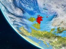 Σκωτία από το διάστημα στη γη διανυσματική απεικόνιση