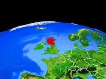 Σκωτία από το διάστημα στη γη ελεύθερη απεικόνιση δικαιώματος