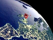 Σκωτία από το διάστημα διανυσματική απεικόνιση