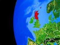 Σκωτία από το διάστημα απεικόνιση αποθεμάτων