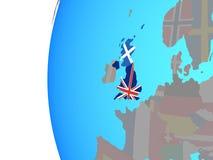 Σκωτία με τη σημαία στη σφαίρα διανυσματική απεικόνιση