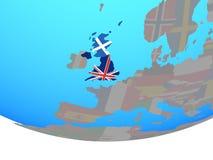 Σκωτία με τη σημαία στη σφαίρα απεικόνιση αποθεμάτων