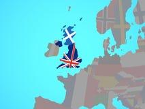 Σκωτία με τη σημαία στο χάρτη ελεύθερη απεικόνιση δικαιώματος