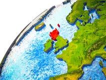 Σκωτία στην τρισδιάστατη γη διανυσματική απεικόνιση