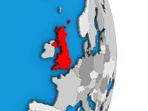 Σκωτία στην τρισδιάστατη σφαίρα απεικόνιση αποθεμάτων