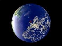Σκωτία στη γη από το διάστημα ελεύθερη απεικόνιση δικαιώματος