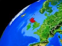 Σκωτία στη γη από το διάστημα απεικόνιση αποθεμάτων