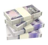 Σκωτσέζικα και βρετανικά χρήματα που απομονώνονται στο άσπρο υπόβαθρο Στοκ Φωτογραφίες