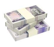 Σκωτσέζικα και βρετανικά χρήματα που απομονώνονται στο άσπρο υπόβαθρο Στοκ εικόνες με δικαίωμα ελεύθερης χρήσης