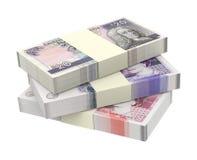Σκωτσέζικα και βρετανικά χρήματα που απομονώνονται στο άσπρο υπόβαθρο Στοκ φωτογραφία με δικαίωμα ελεύθερης χρήσης