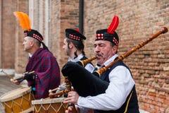 Σκωτσέζικη μουσική ζώνη Στοκ φωτογραφία με δικαίωμα ελεύθερης χρήσης