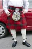 Σκωτσέζικη σκωτσέζικη φούστα Στοκ Φωτογραφία