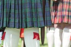 σκωτσέζικη φούστα σκωτσέζικα Στοκ Εικόνα