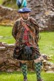 Σκωτσέζικη Highlander ιστορική αναθεώρηση Στοκ Φωτογραφία