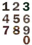 Σκωτσέζικοι αριθμοί ταρτάν Στοκ φωτογραφία με δικαίωμα ελεύθερης χρήσης